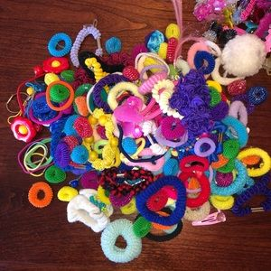 Ponytail and clip lot